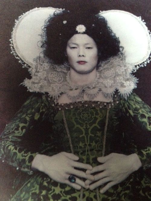 Chan-Hyo Bae. Existing in Costume 1, Elizabeth. 2006. Signed and dated in black ink, verso, digital C-print, 24 x 20 in, sheet, 22.25 x 17.75 in, image.