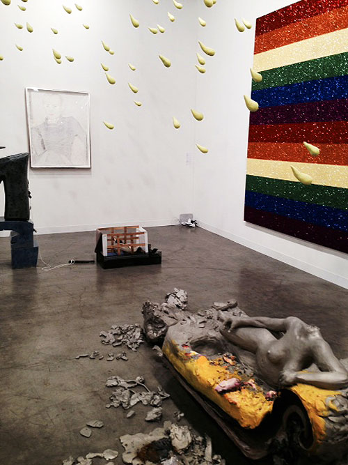 The Urs Fischer installation at Sadie Cole. Photograph: Jill Spalding.