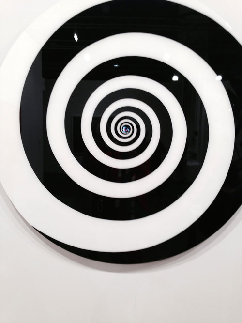 Installation view of Op Art iPad work. Photograph: Jill Spalding.