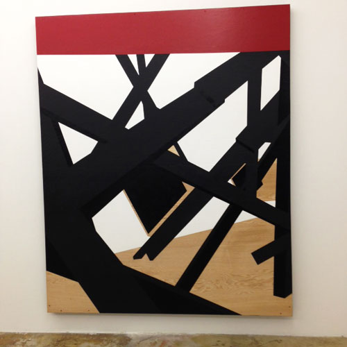 Serge Alain Nitegeka, (not yet titled), 2014, paint on wood, 46½ x 47½ in.