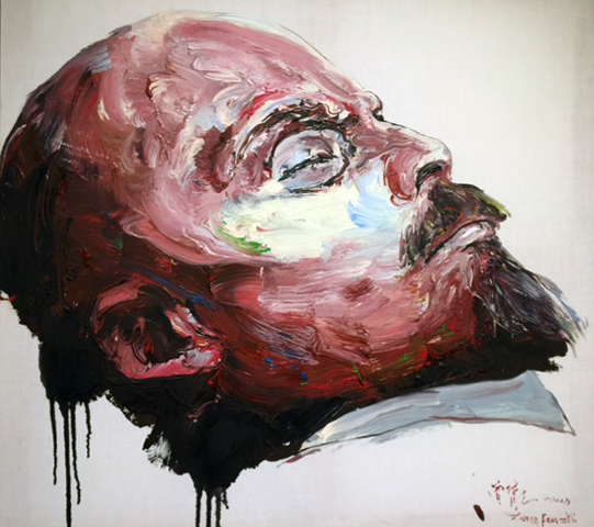 Zeng Fanzhi. Mr. Lenin, 2005. Oil on canvas, 39 x 39 in (99.1 x 99.1 cm). Photograph: Jill Spalding.