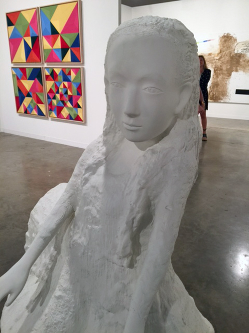 Kiki Smith. Seer (Alice I), 2005. White auto body paint on bronze, 62 1/2 x 55 1/2 x 49 in. Edition 3 of 3 + 1 AP. Timothy Taylor Gallery.