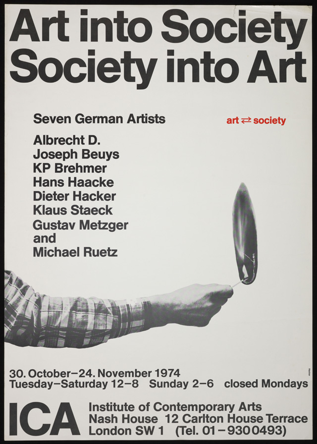 Exhibition poster, ICA, 1974. Photography © Tate, London. 2015