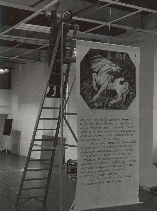 Exhibition installation, Dieter Hacker, ICA, 1974. Photography © Gerald Incandela.