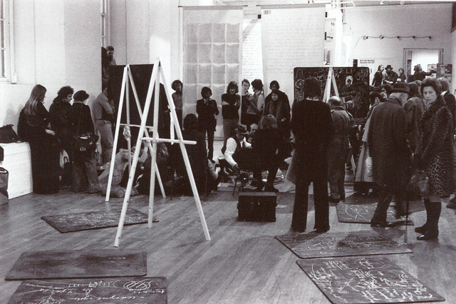 Exhibition installation (Joseph Beuys), ICA, 1974.