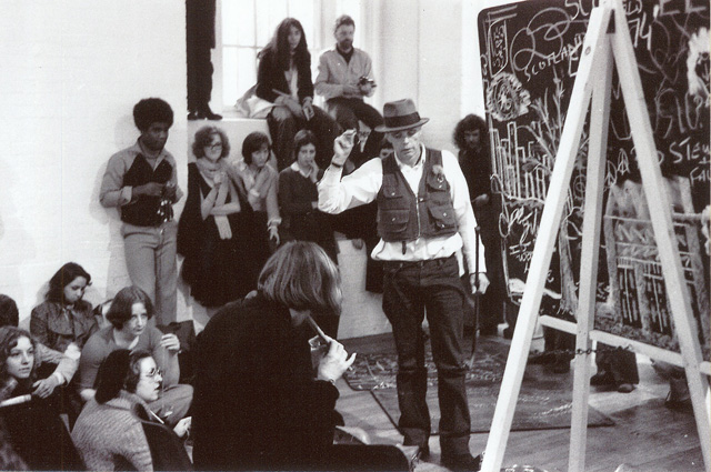 Joseph Beuys and Albrecht D. performance, ICA, 1 November 1974. Photography © Martin Scutt.