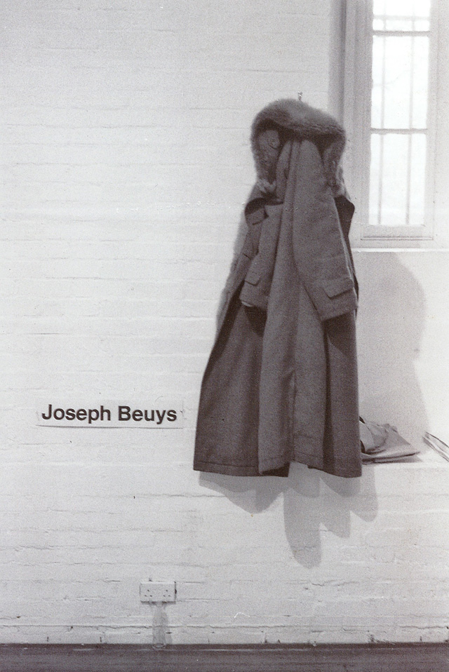 Joseph Beuys' coat, ICA, 1974. Photography © Martin Scutt.
