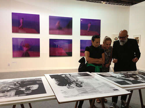 ArtRio 2013. Holy Family series of serigraph prints by Mauro Espíndola. Photograph: Alessandra Bergamaschi.