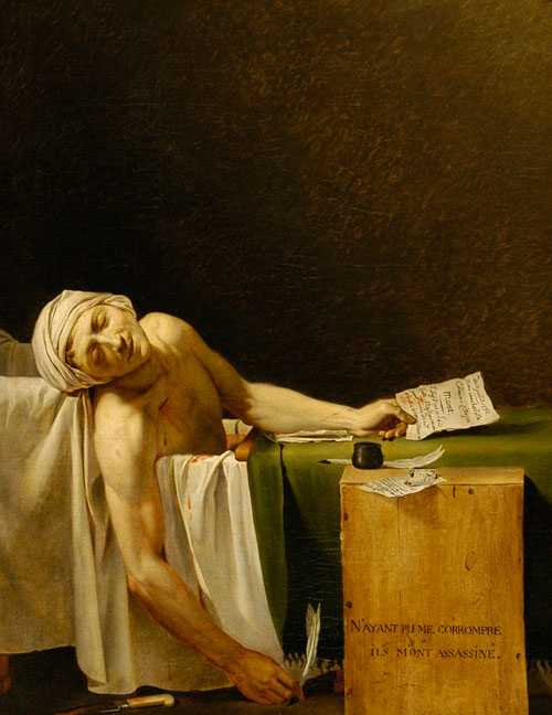 Jacques-Louis David. The Death of Marat, 1793.