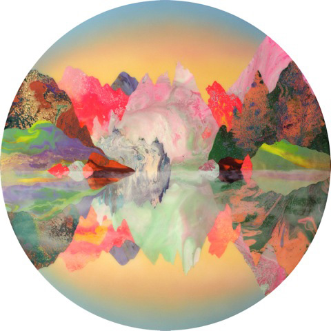 Kate Shaw. Somniloquy, 2015. Acrylic and resin on board, 120 cm diameter.