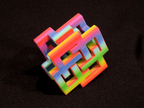 Brenna Murphy. Rainbow Array 3, 2015. 3D printed plastic resin, 1.25 x 2 x 2 in (3.2 x 5 x 5 cm). 1 of 4.