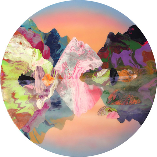 Kate Shaw. Circadian, 2015. Acrylic and resin on board, 120 x 120 x 120 cm.