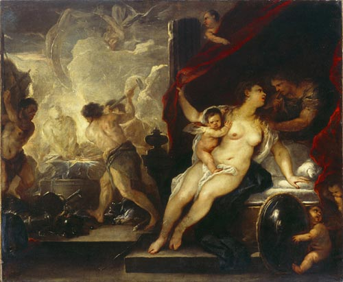 Luca Giordano. <em>Venus, Mars, and the Forge of Vulcan,</em> c1660s. Sir Denis Mahon Bequest, National Gallery of Ireland Collection, Photo © The National Gallery of Ireland
