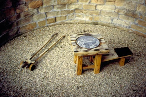 Arthur Watson. <em>Six Skies, Some Family Stereotypes</em>. Scottish Sculpture Open, Kildrummy Castle, Aberdeenshire, 1997