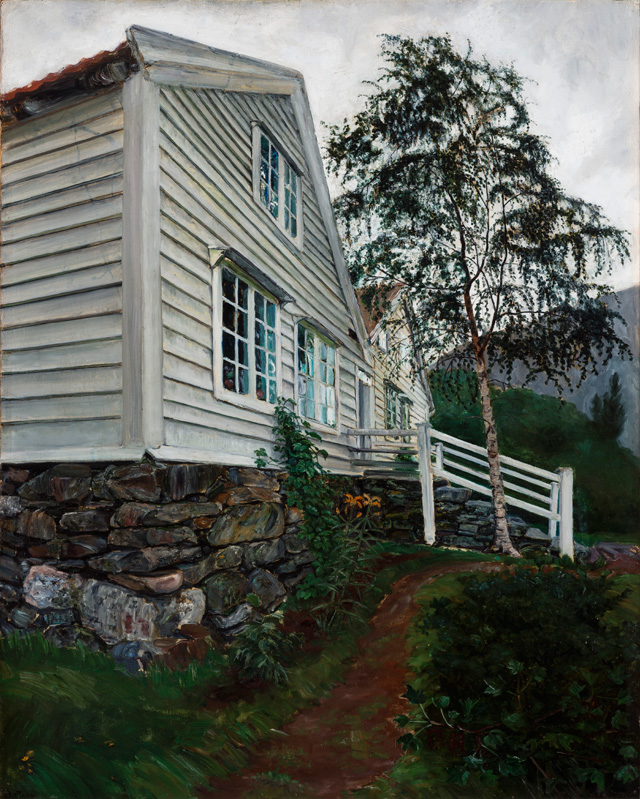 Nikolai Astrup. The Parsonage. Oil on canvas, 101 x 88 cm. The Savings Bank Foundation DNB/The Astrup Collection/KODE Art Museums of Bergen. Photograph © Dag Fosse/KODE.