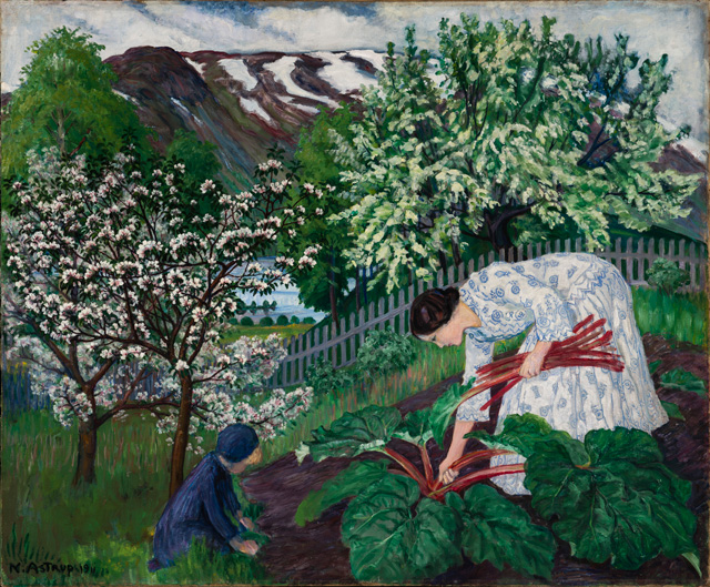 Nikolai Astrup. Rhubarb, 1911. Oil on canvas, 93 x 110 cm. The Savings Bank Foundation DNB/The Astrup Collection/KODE Art Museums of Bergen. Photograph © Dag Fosse/KODE.