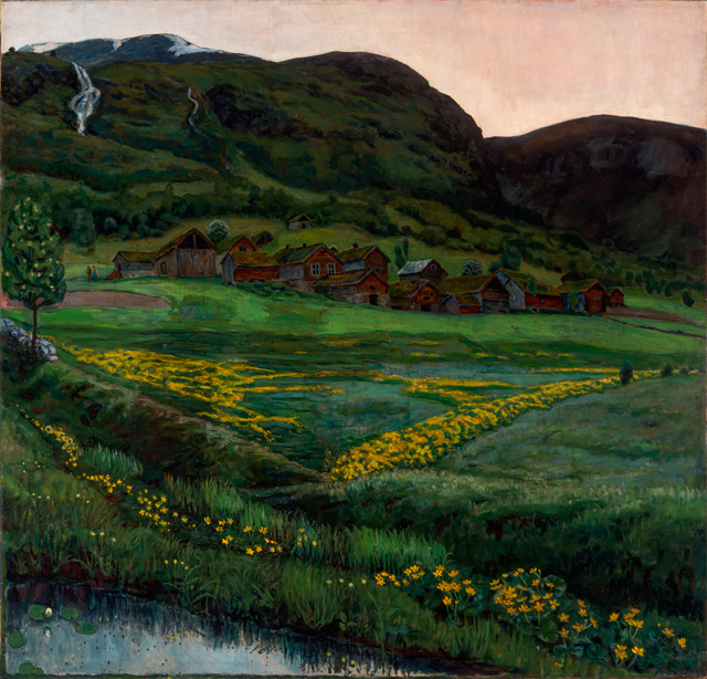 Nikolai Astrup. A Clear Night in June, 1905-07. Oil on canvas, 148 x 152 cm. The Savings Bank Foundation DNB/The Astrup Collection/KODE Art Museums of Bergen. Photograph © Dag Fosse/KODE.