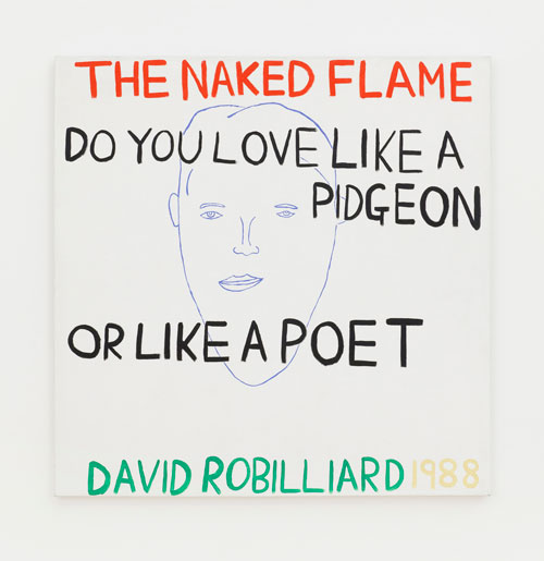 David Robilliard. The Naked Flame, 1988. Acrylic on canvas. Photograph: Paul Knight. Courtesy private collection, Berlin. © The Estate of David Robilliard. All rights reserved. DACS 2014.