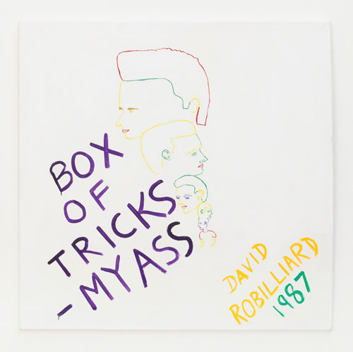 David Robilliard. Box of Tricks - My Ass, 1987. Acrylic on canvas. Photograph: Paul Knight. © The Estate of David Robilliard. All rights reserved. DACS 2014.