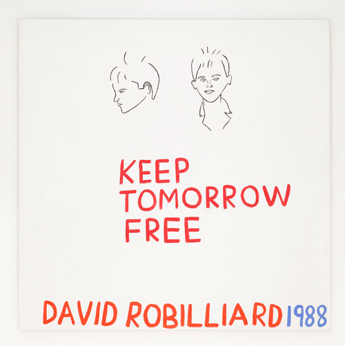 David Robilliard. Keep Tomorrow Free, 1988. Acrylic on canvas. Photograph: Paul Knight. Courtesy collection Judy Adam & David Ward. © The Estate of David Robilliard. All rights reserved. DACS 2014.