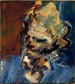 Head of Catherine Lampert. 1986, oil on canvas