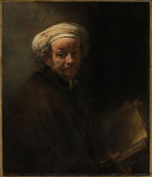 Rembrandt Harmenszoon van Rijn. Self-portrait as the Apostle Paul, 1661. Oil on canvas, 91 x 77 cm.