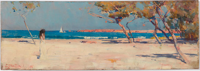 Arthur Streeton. Ariadne, 1895. Oil on wood panel, 12.7 x 35.4 cm. National Gallery of Australia, Canberra. Members Acquisition Fund 2016. © National Gallery of Australia, Canberra.