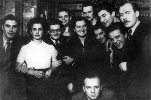 Maribor students, members of Triglav Academic Club (Slava Klavora is second from the left), Zagreb, 7 December 1939