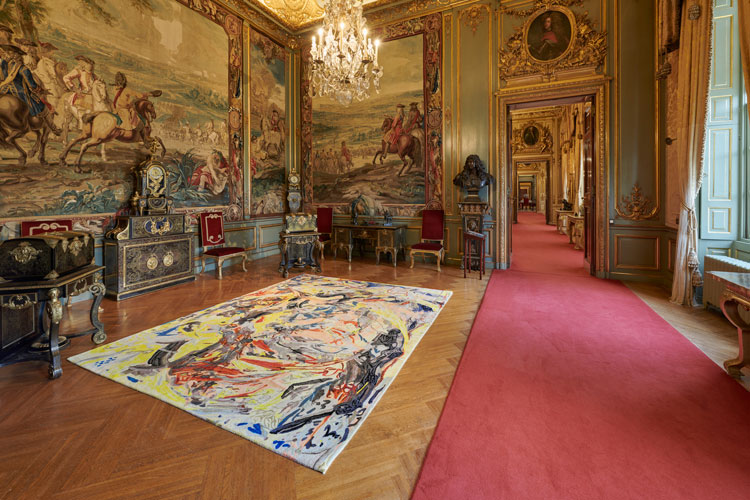 Cecily Brown, Armorial Memento, Floored, 2020. Installation view of Cecily Brown at Blenheim Palace, Blenheim Palace, 2020. Photo: Tom Lindboe. Courtesy of Blenheim Art Foundation.