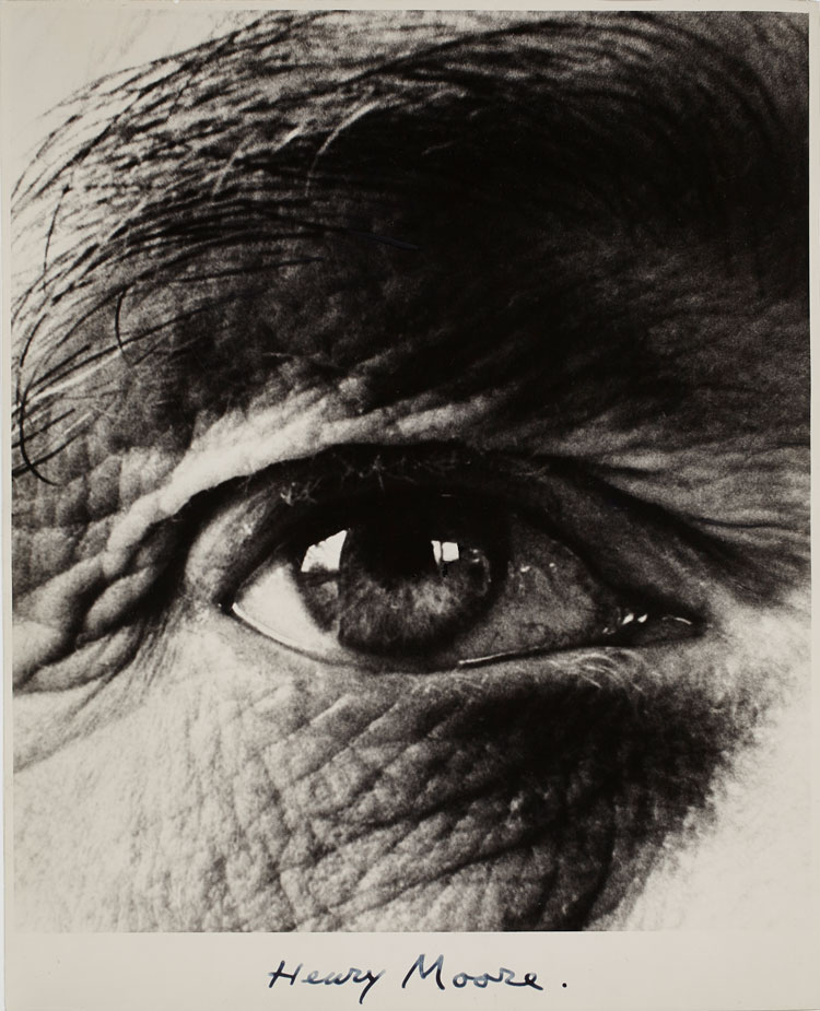 Bill Brandt, Henry Moore's Right Eye, 1960, gelatin silver print, Art Gallery of Ontario, Malcolmson Collection. Gift of Harry and Ann Malcolmson, in partnership with a private donor, © Bill Brandt/Bill Brandt Archive Ltd.