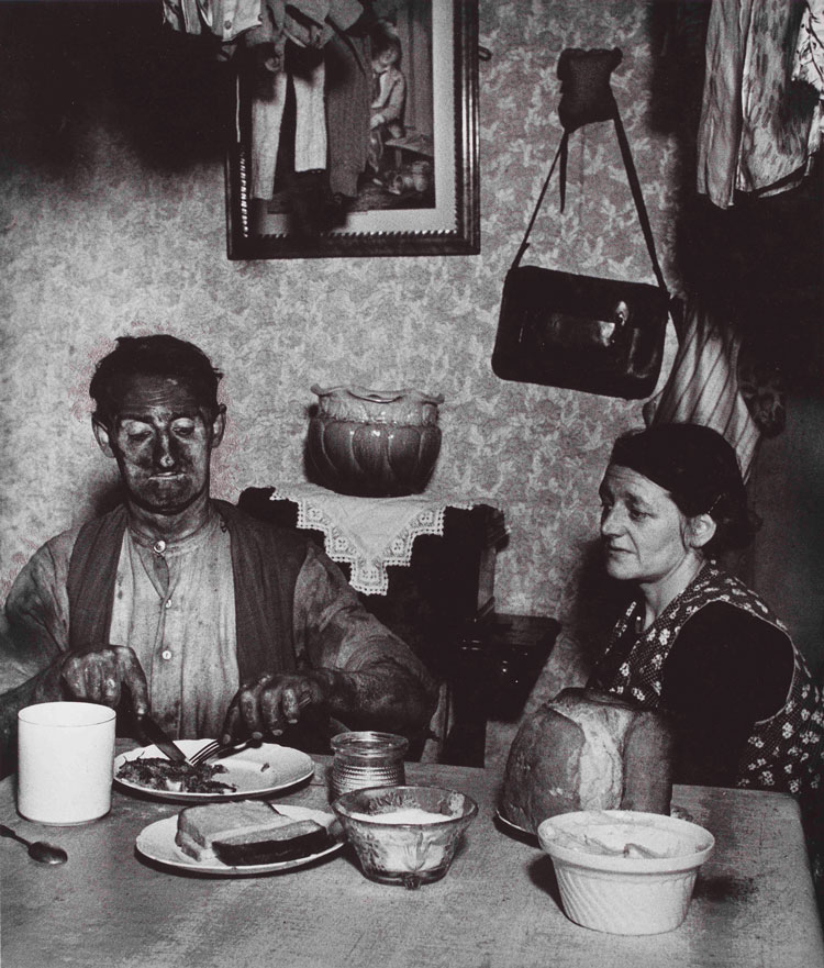 Bill Brandt, Northumbrian Miner at his Evening Meal, 1937, gelatin silver print, Edwynn Houk Gallery, New York, © Bill Brandt/Bill Brandt Archive Ltd.