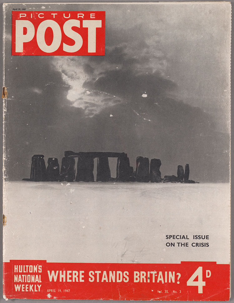 """Where Stands Britain?,"" Picture Post, April 19, 1947, cover, Yale Center for British Art, Friends of British Art, original copyright: Picture Post, text © 2019 Reach PLC, © Bill Brandt/Bill Brandt Archive Ltd."