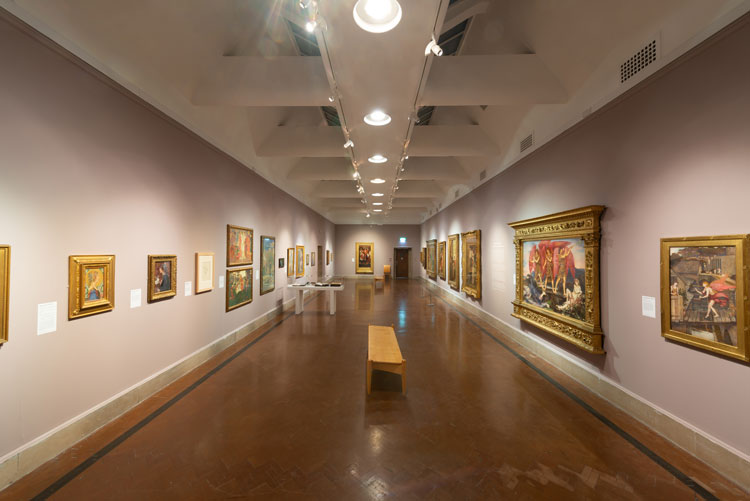 Beyond the Brotherhood: The Pre-Raphaelite Legacy, installation view, Southampton City Art Gallery, 2019. Photo: Joe Low Photography.