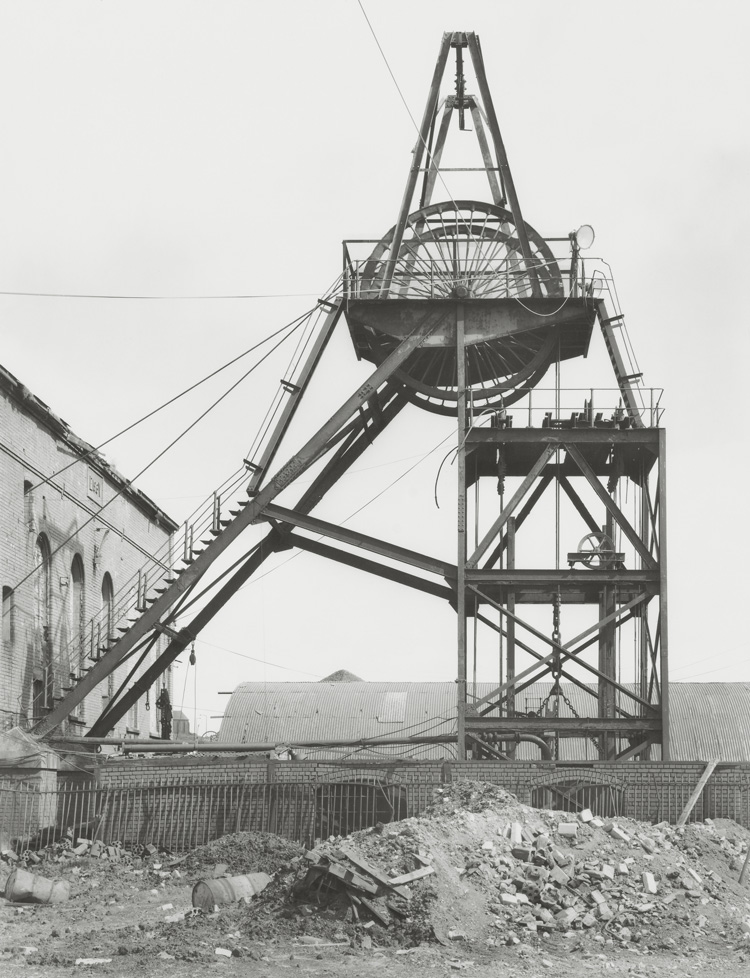 Bernd and Hills Becher. Prince of Wales, Shaft 1, Ebbw Vale, South Wales, GB, 1974. © Estate Bernd & Hilla Becher, represented by Max Becher, courtesy Die Photographische Sammlung/SK Stiftung Kultur – Bernd und Hilla Becher Archive, Cologne, 2019.
