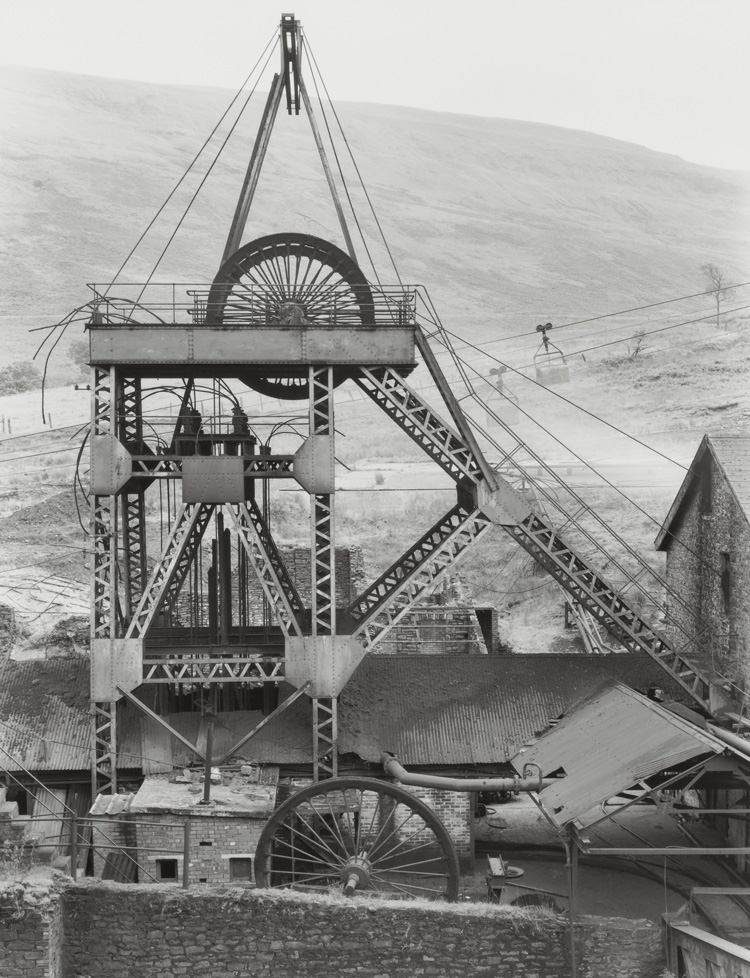 Bernd and Hills Becher. Park Colliery, Treorchy, South Wales, GB, 1966. © Estate Bernd & Hilla Becher, represented by Max Becher, courtesy Die Photographische Sammlung/SK Stiftung Kultur – Bernd und Hilla Becher Archive, Cologne, 2019.