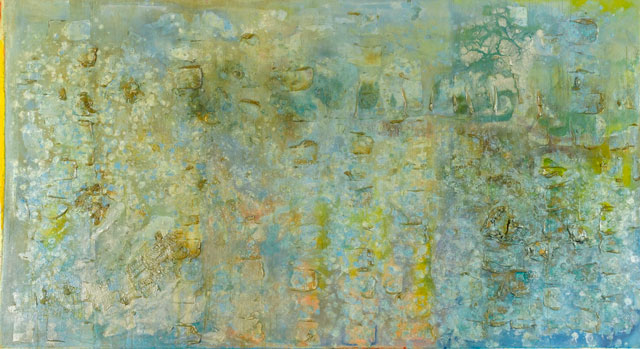 Frank Bowling. Great Thames IV, 1988-9. Acrylic paint on canvas, 181 x 310 cm. Arts Council Collection, Southbank Centre, London. © Frank Bowling, All Rights Reserved, DACS 2019.