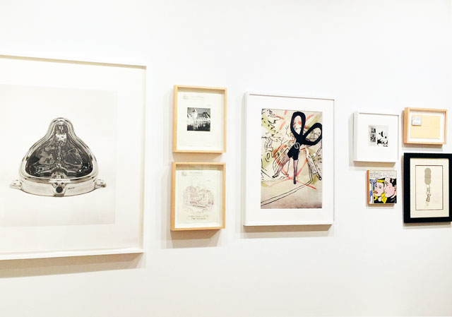 Works on paper, including Keith Boadwee's After Polke (Scissors Running), 1991, archival inkjet print. Installation view, The Bunker Artspace, West Palm Beach, Florida. Photo: Jill Spalding.
