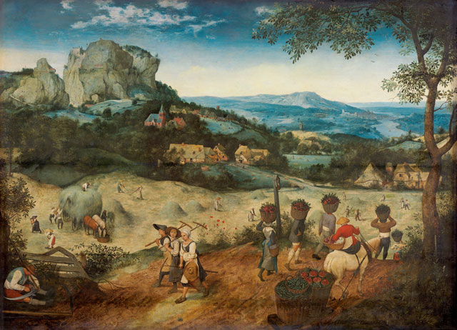 Pieter Bruegel the Elder, The Haymaking, 1565. Oak panel, 114 × 158 cm. The Lobkowicz Collections, Lobkowicz Palace, Prague Castle © The Lobkowicz Collections.
