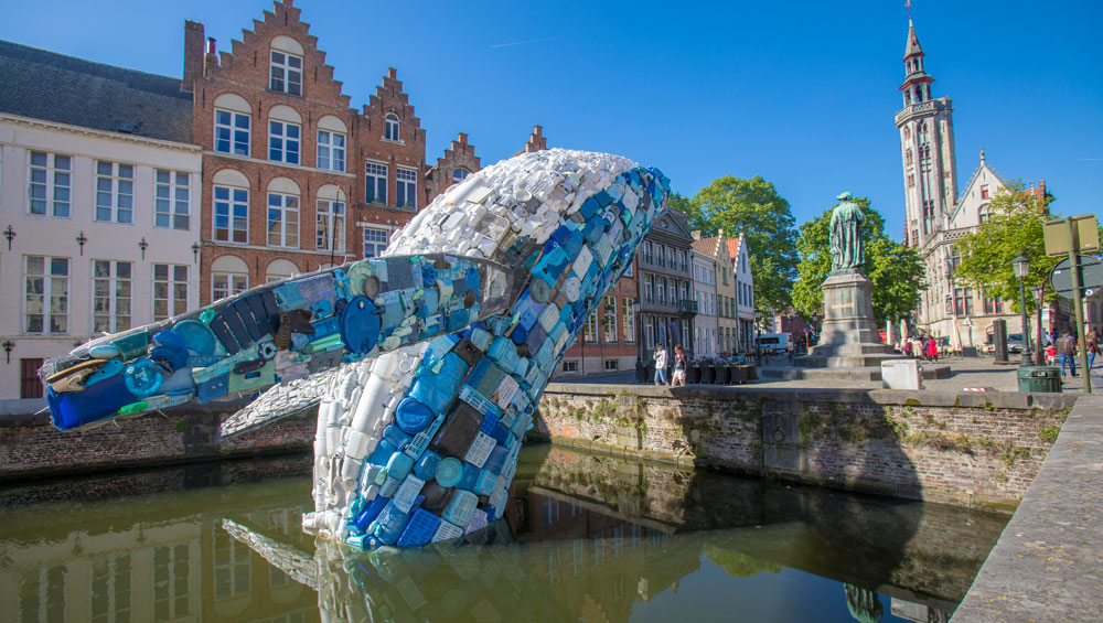 For the duration of the summer, visitors to the liquid city of Bruges are invited to ponder a more metaphorical interpretation of this notion of fluidity, thinking about how the city – and they themselves – might adapt in the light of the growing conviction that change is the only permanence