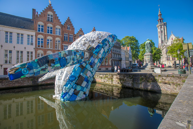 StudioKCA, Skyscraper (the Bruges Whale), 2018. © VisitBruges | Jan D'hondt.