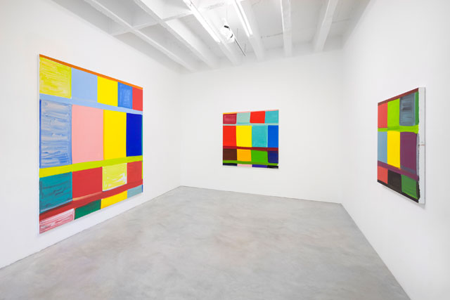 Stanley Whitney: Paintings. Installation view, Galerie Nordenhake, 2018. Courtesy the artist and Galerie Nordenhake Berlin / Stockholm. Photograph: Gerhard Kassner.