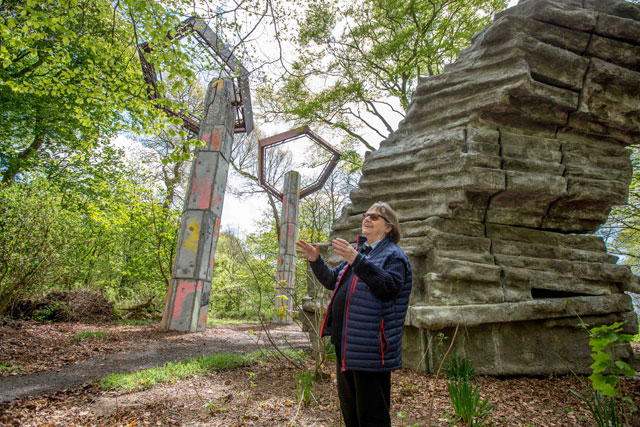 Phyllida Barlow, Quarry, 2018. Photograph: Anna Kunst, courtesy Jupiter Artland.