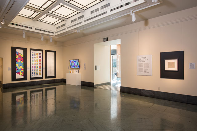 Paul Brown: Process, Chance and Serendipity: Art That Makes Itself. Installation view, National Academy of Sciences, Washington DC, 20 February – 15 July 2018. Photograph courtesy Cultural Programs of the NAS © 2018 Kevin Allen Photo.
