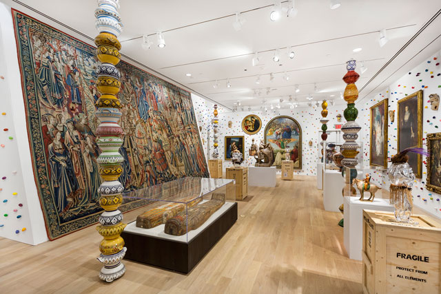 Installation view of Pascale Marthine Tayou's exhibition Beautiful. Photograph: Zachary Balber. Courtesy of The Bass, Miami Beach.