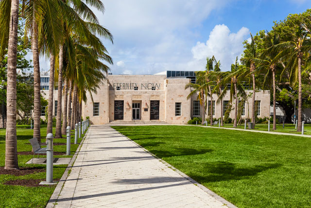The Bass, Miami Beach. View of the historic 1930s structure designed by Russell Pancoast. Image courtesy of The Bass, Miami Beach. Photograph © Robin Hill.