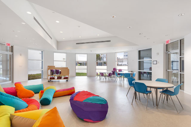 View of the new Rotunda Classroom at The Bass Creativity Center. Photograph: Zachary Balber. Courtesy of The Bass, Miami Beach.