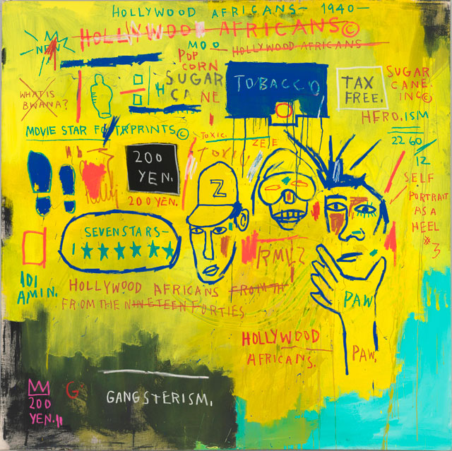 Jean-Michel Basquiat. Hollywood Africans, 1983. Acrylic and oilstick on canvas, 213.5 x 213.4 cm. Courtesy Whitney Museum of American Art, New York. © The Estate of Jean-Michel Basquiat/ Artists Rights Society (ARS), New York/ ADAGP, Paris. Licensed by Artestar, New York.