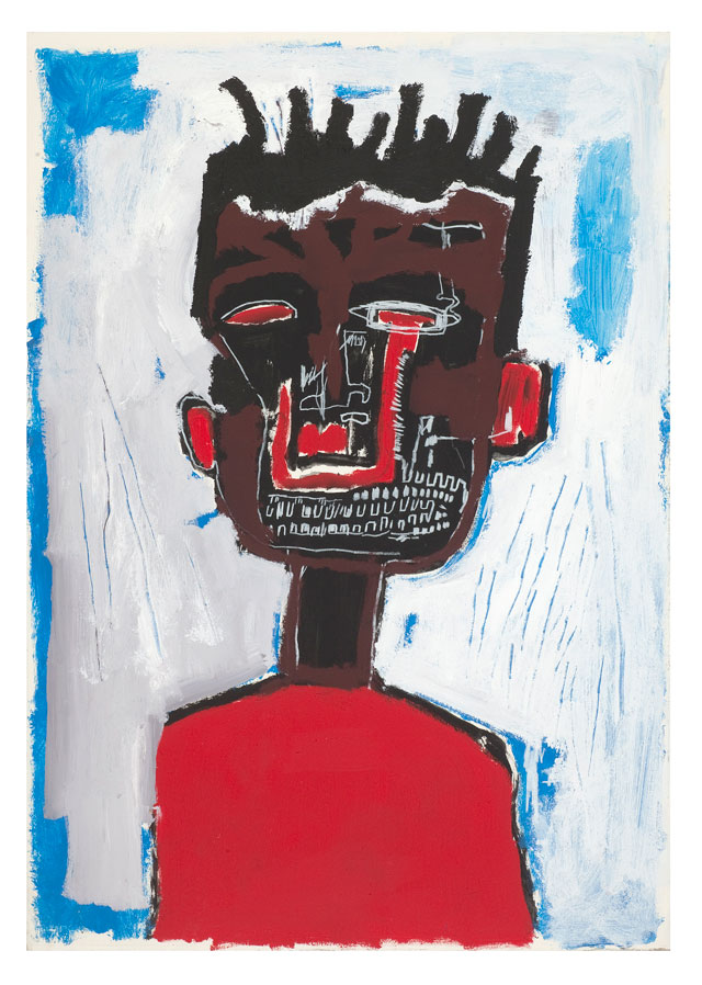 Jean-Michel Basquiat. Self Portrait, 1984. Acrylic and oilstick on paper mounted on canvas, 100 x 70 cm. Private collection. © The Estate of Jean-Michel Basquiat. Licensed by Artestar, New York.