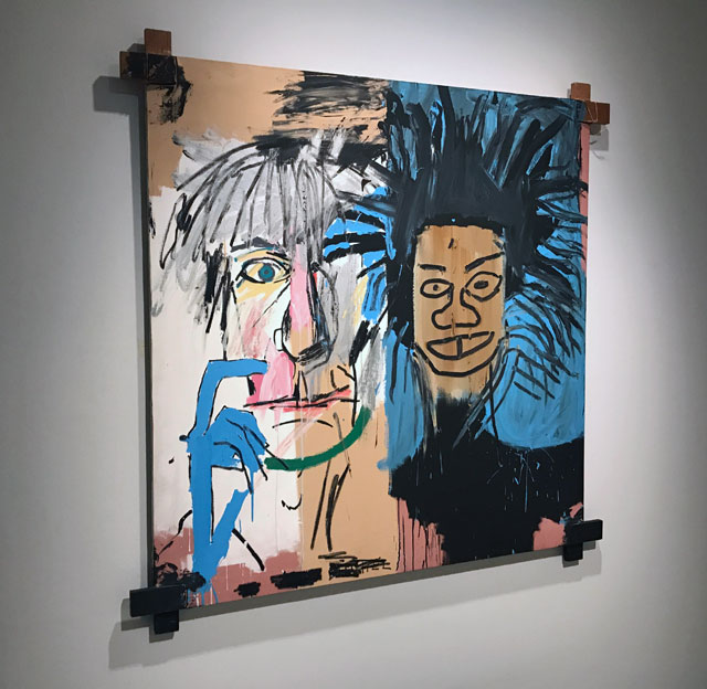Jean-Michel Basquiat. Dos Cabezas (Two Heads), 1982. Installation view, Basquiat: Boom for Real, Barbican Art Gallery, London, 2017. Photograph: Martin Kennedy.