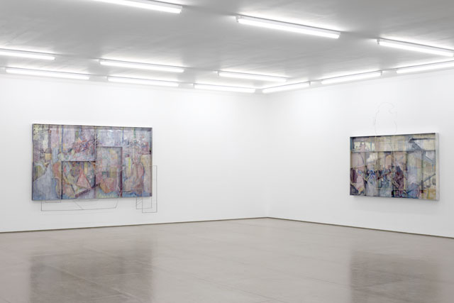 Installation view, Sara Barker, The faces of older images, Mary Mary, Glasgow. Image courtesy the artist; Mary Mary, Glasgow. Photograph: Max Slaven.